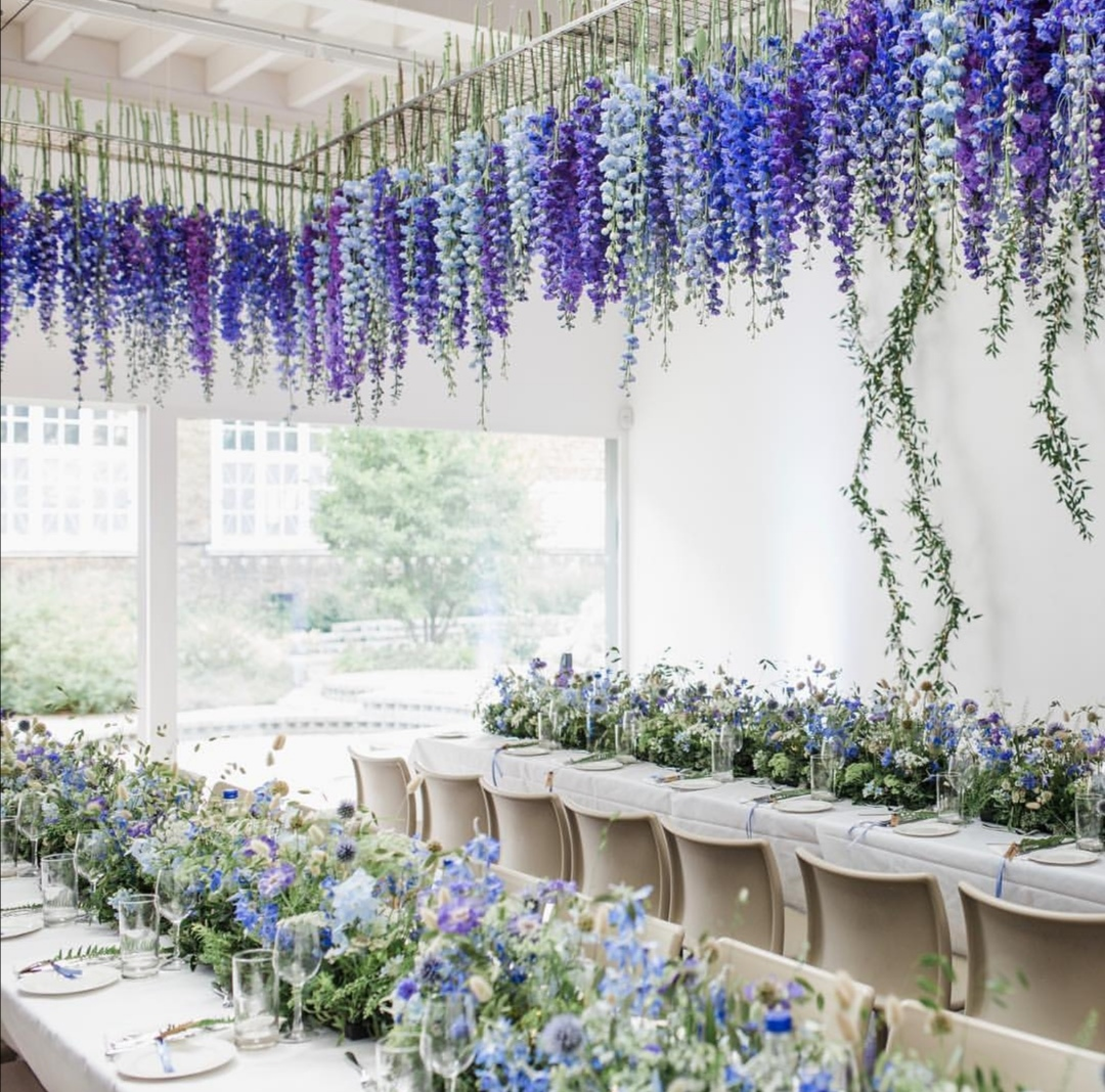 Blue Delphinium Wedding