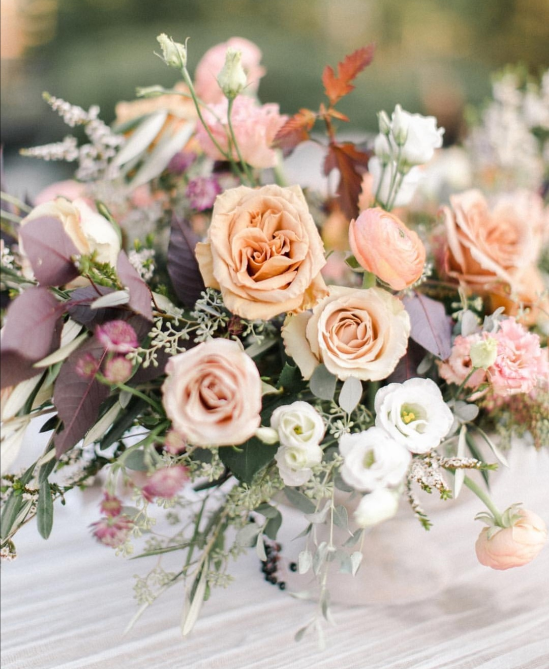 Peach brides bouquet