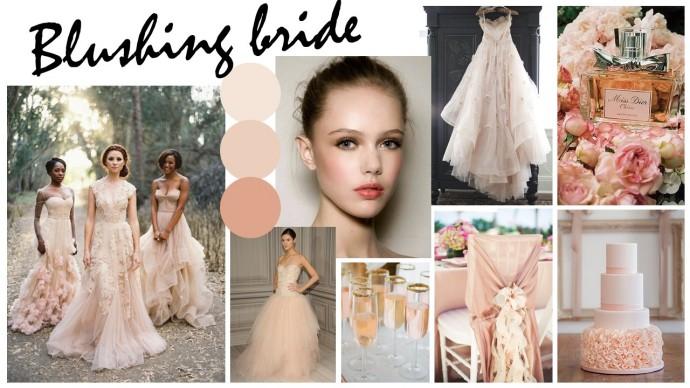 Blushing bride moodboard