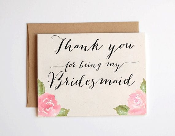 Bridesmaid gifts she will love