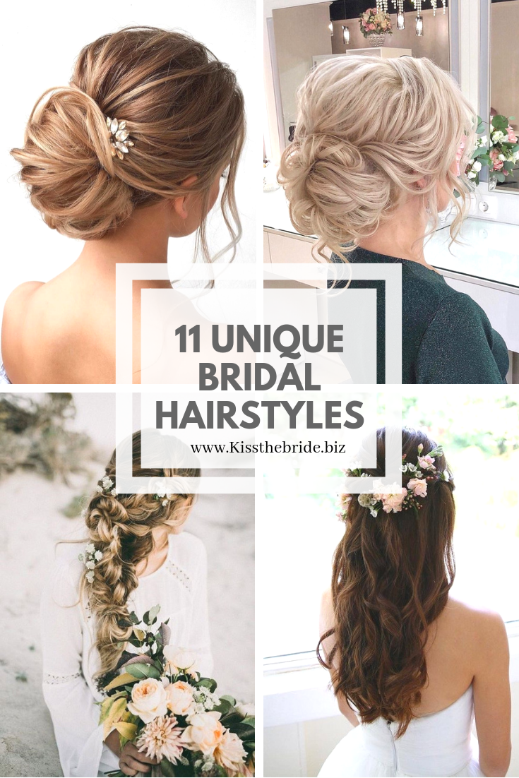 11 Unique bridal hairstyles and ideas