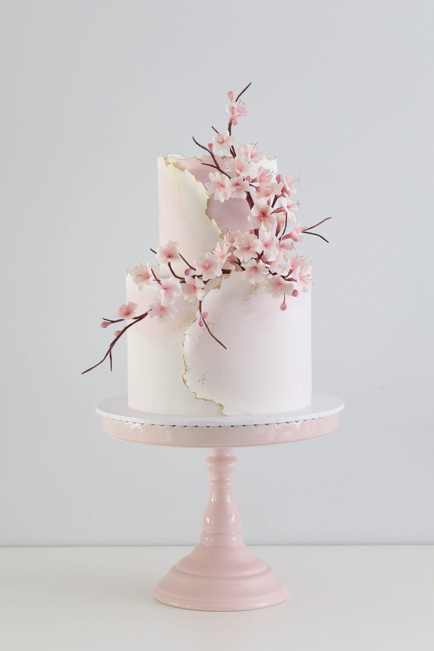 Zoe Clark pink blossom cake