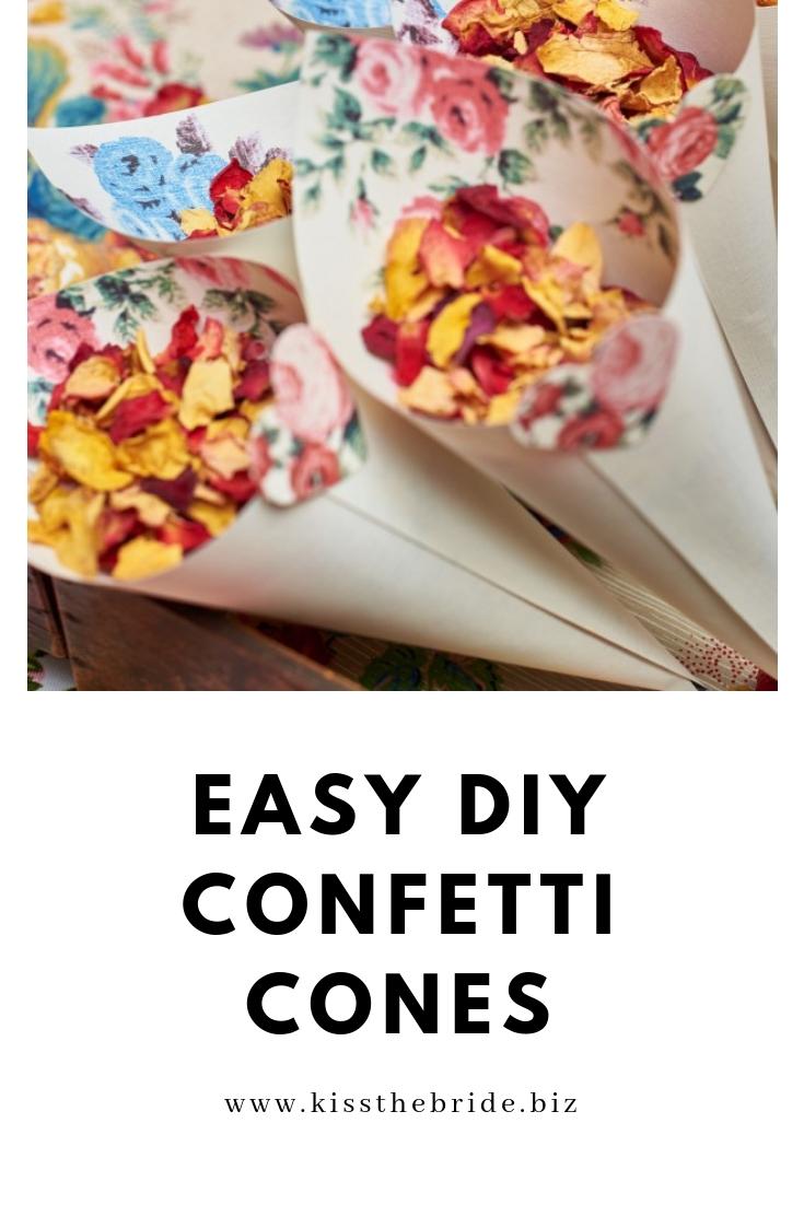 Easy diy confetti cones