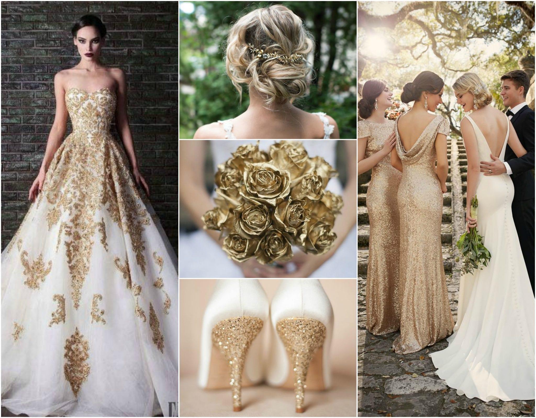 Wedding Mood Board: Gold wedding ideas