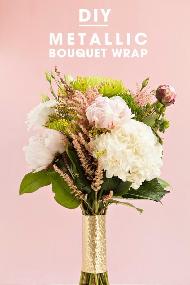 Metallic Bouquet Wrap