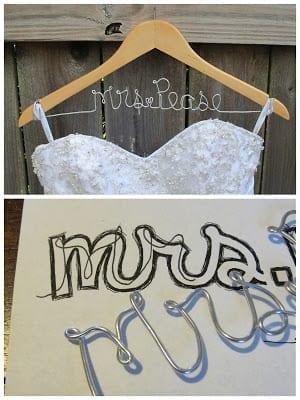 DIY Wedding Name Hanger