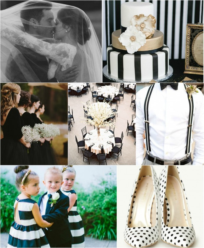 Black and White Mood Board