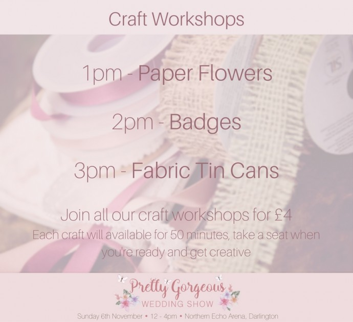 Craft workshops schedule