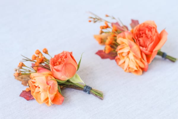 Autumn Leaves Buttonhole