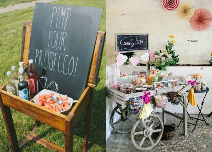 Prosecco Bar and Candy Bar