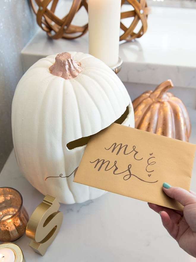 Foam Pumpkin Card Box