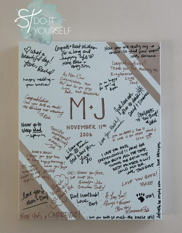 Painted Canvas Guestbook