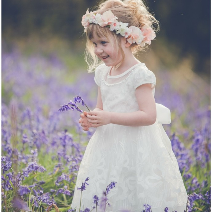 Ivory Flowergirl Dress and Floral Headband