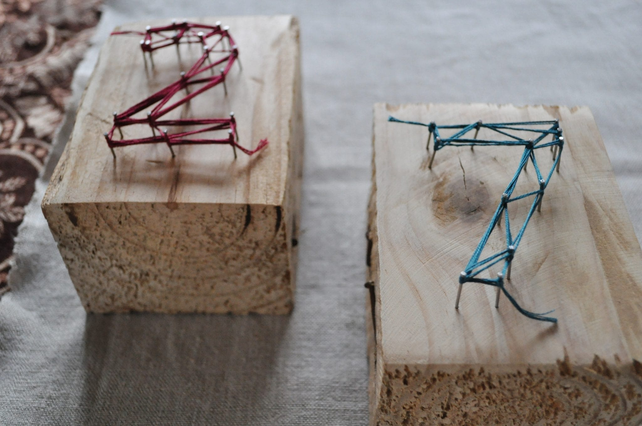 #MakeItMonday – String Art Table Numbers