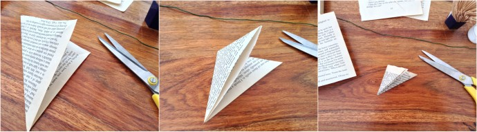 Book Page Flower Craft