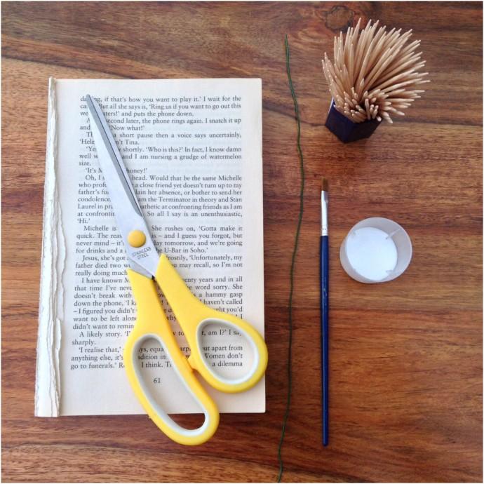 Book Page Flower Craft Equipment