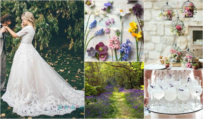 Dreamy Floral Romance Mood Board 1