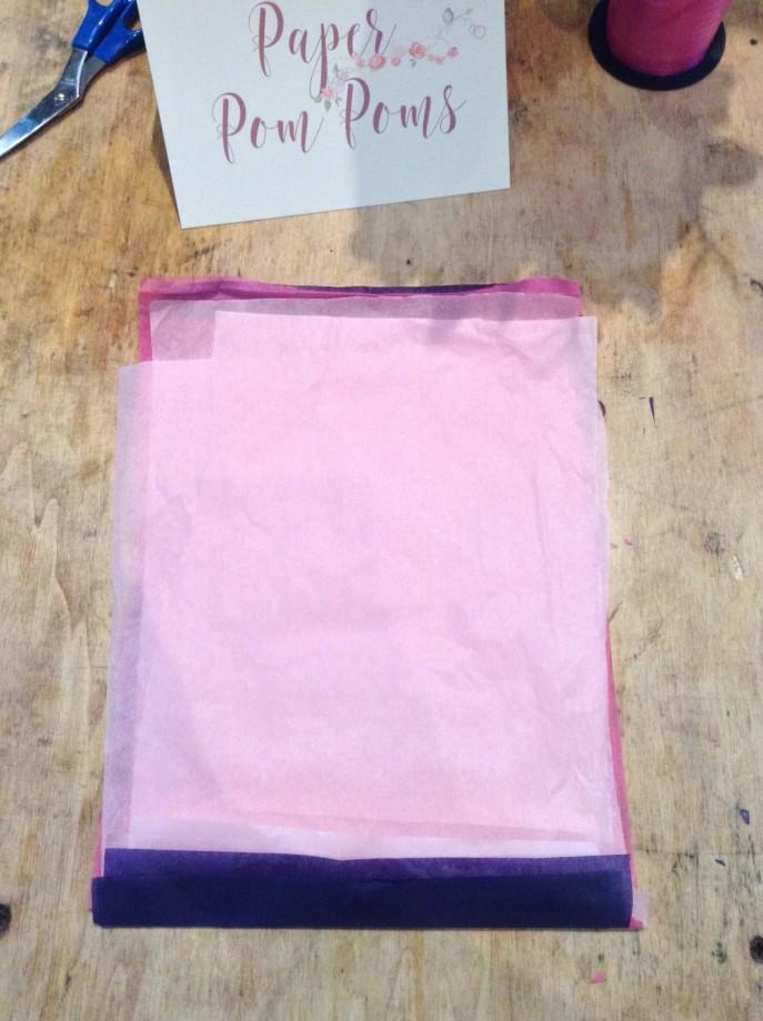 Tissue Pom Pom Instruction