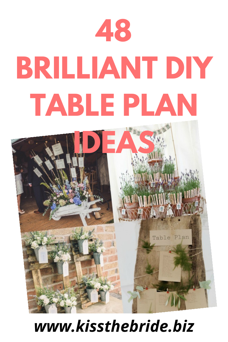 DIY wedding table plans