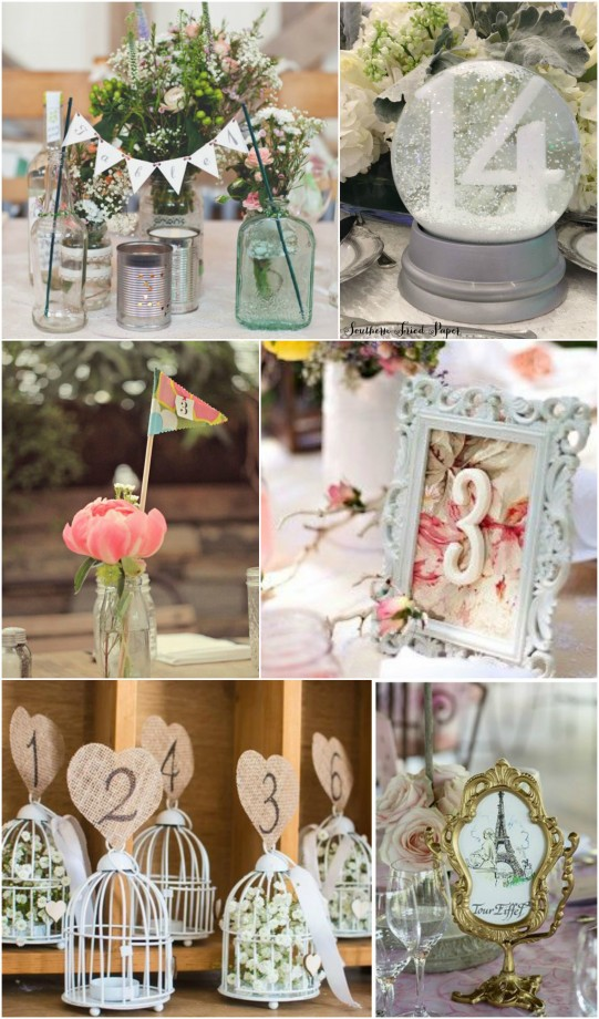 Table Number Whimsical