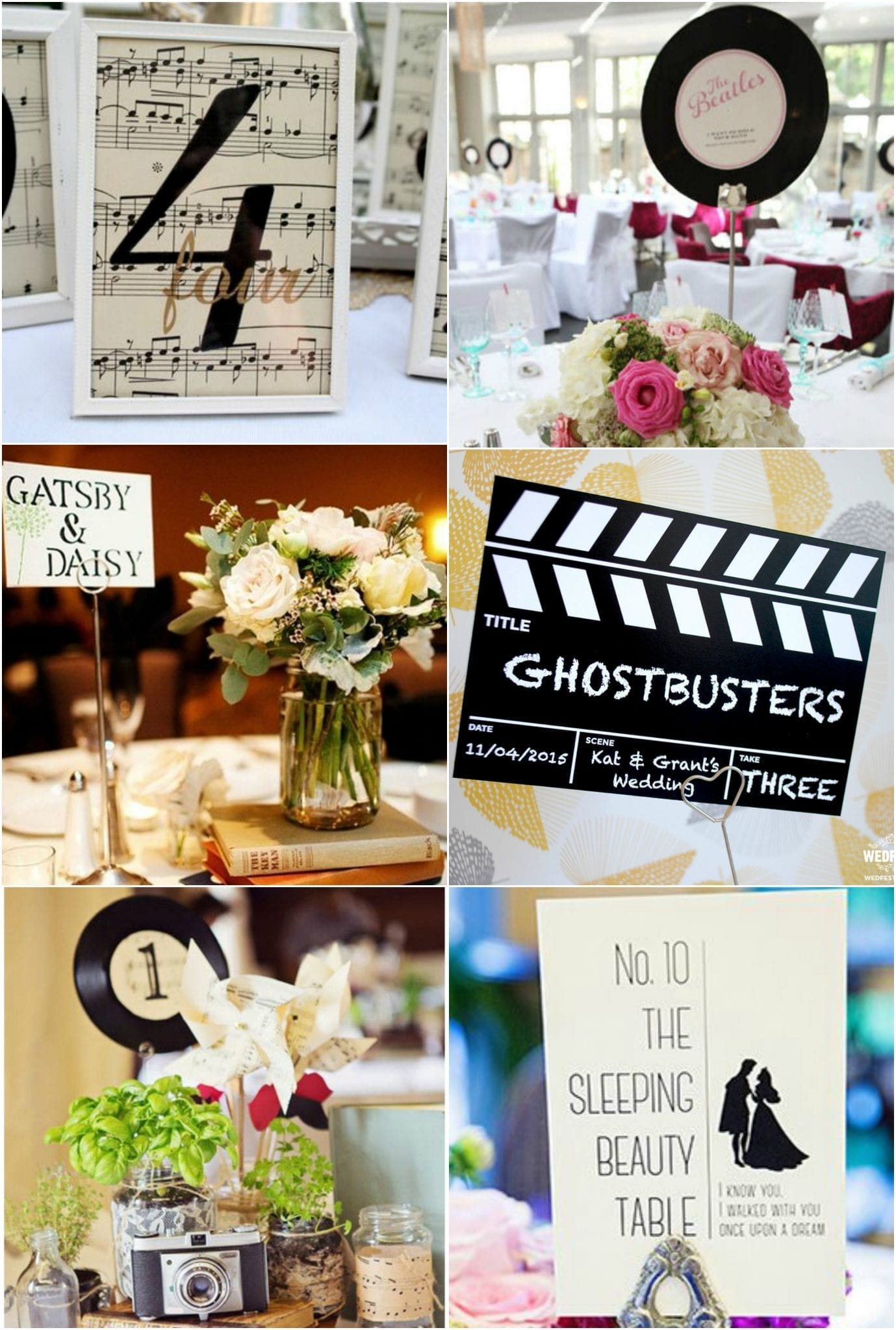 Wedding Table Numbers Movies Music