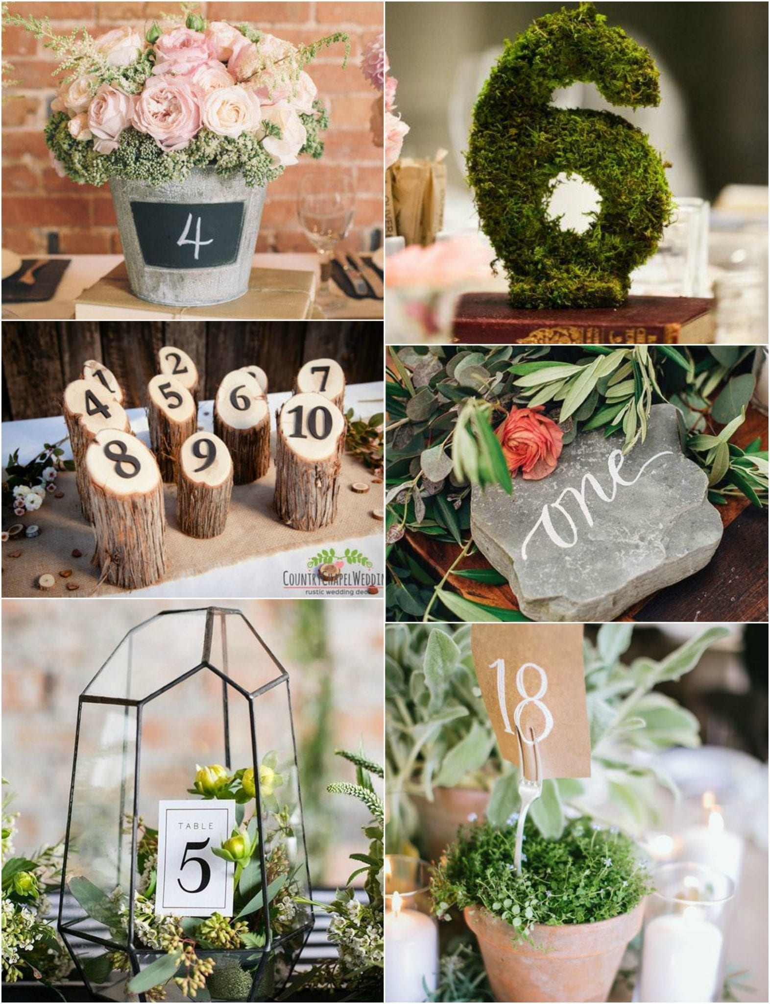 Wedding Table Numbers Outside In