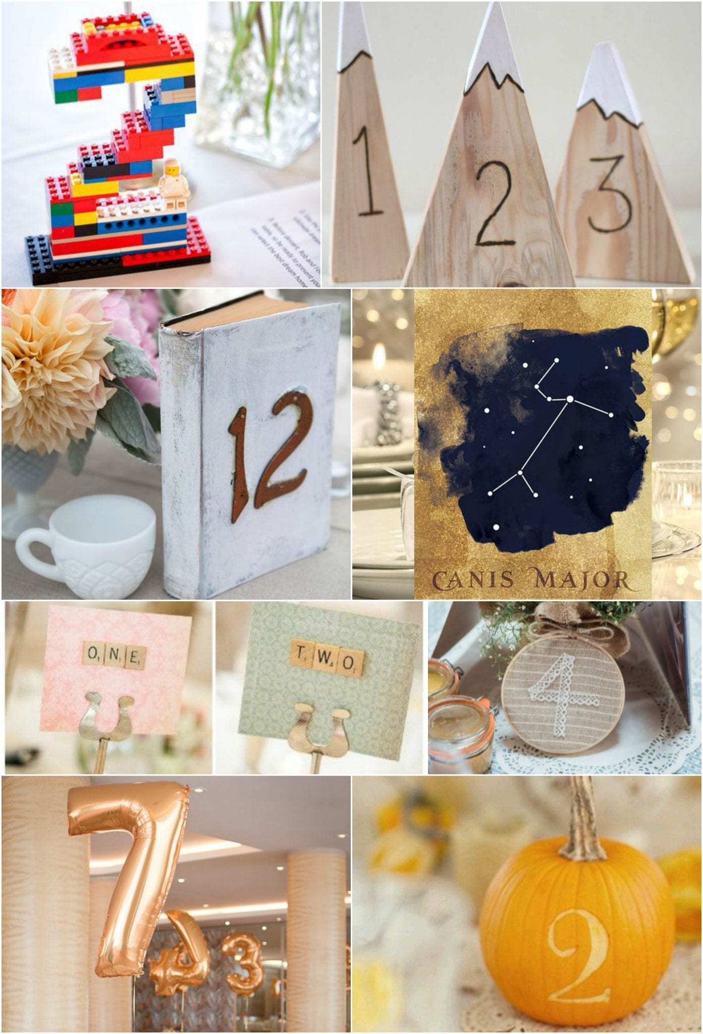 Table Numbers Quirky