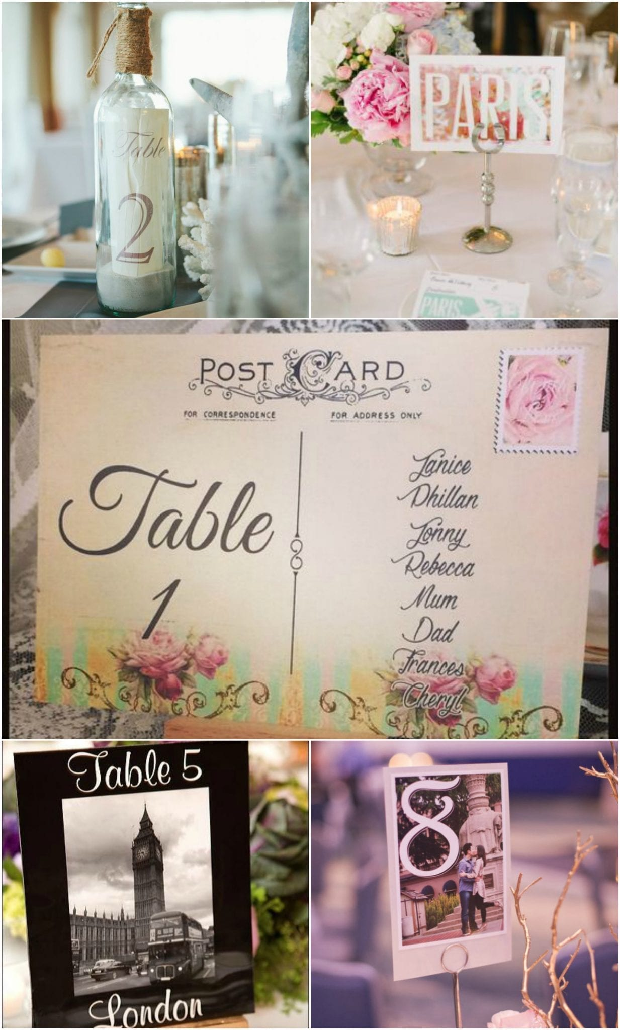 Table Numbers Travel