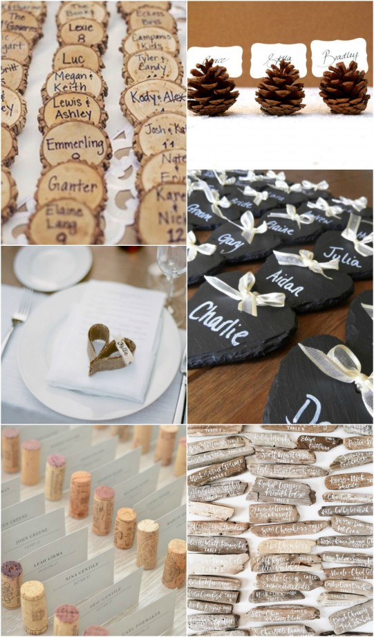 Place Cards Rustic Delight