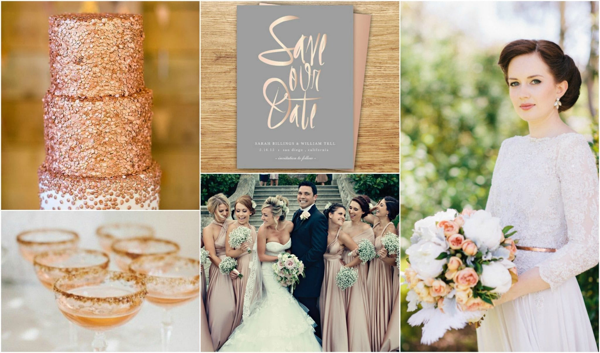 Pink and rose gold wedding ideas