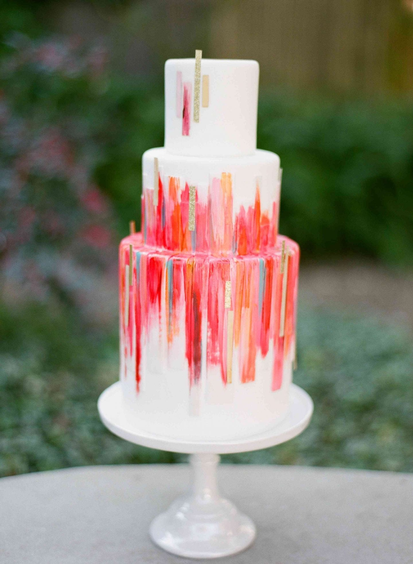 Jewel coloured wedding cake