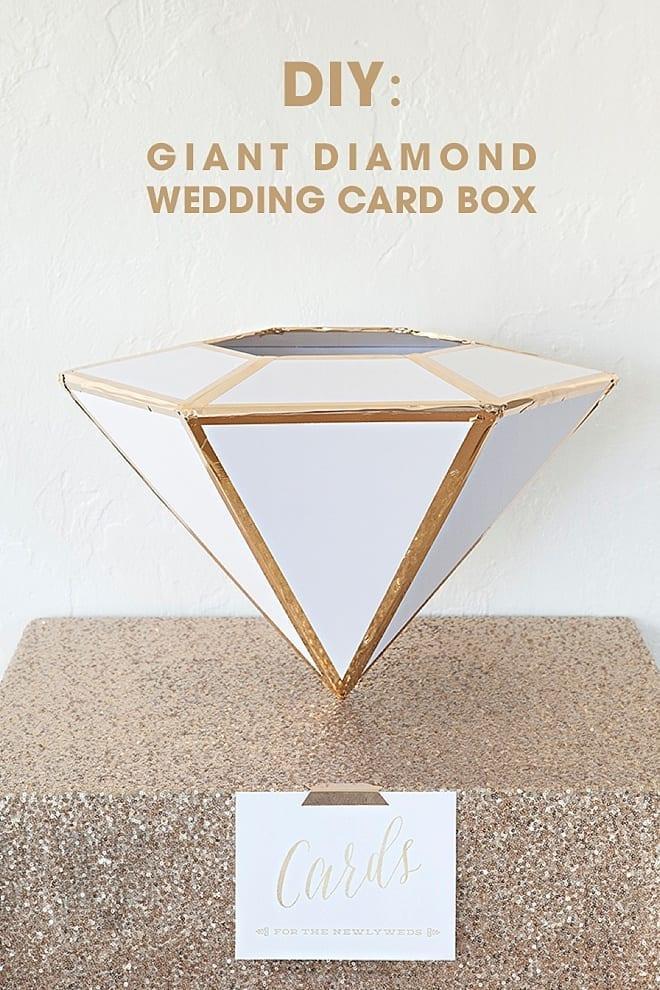 Giant Diamond Wedding Card Box
