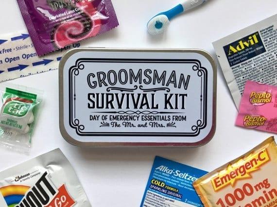 Grooms Survival Kit by Sweet Talk Designs