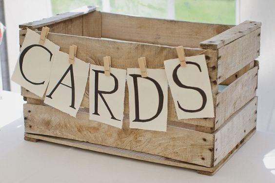 Rustic Crate Card Box