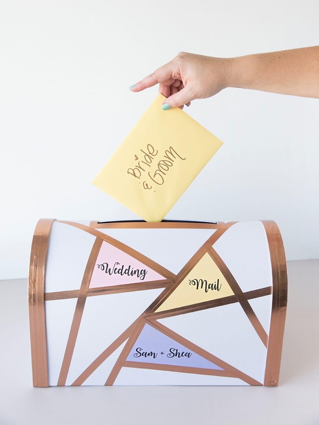 Geometric Wedding Card Mailbox