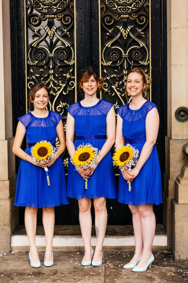 Sophie and James's completely DIY wedding at Leeds Town Hall and wedding at The Tetley in Leeds.