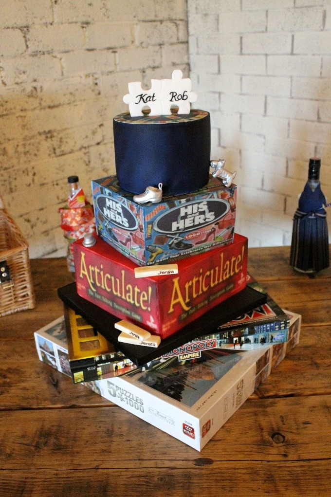 Board game wedding cake