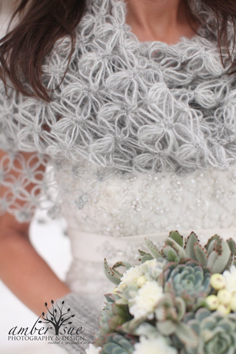 Grey wedding shawls