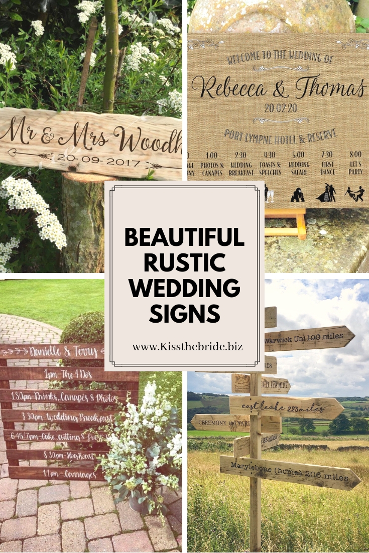 Rustic wedding sign ideas