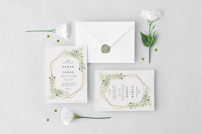 Wedding stationery printable
