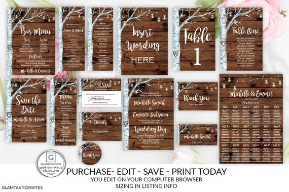 Rustic Wedding printable