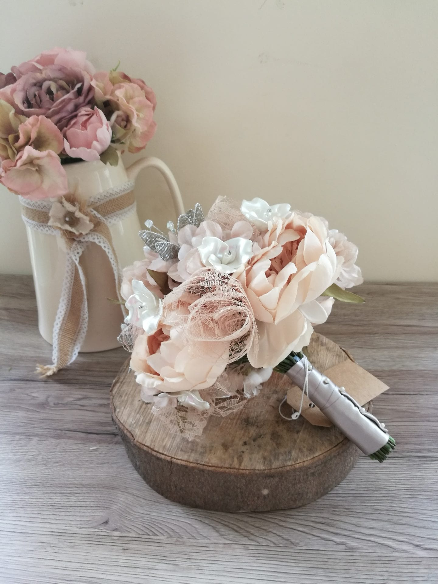 Vintage lace wedding bouquet