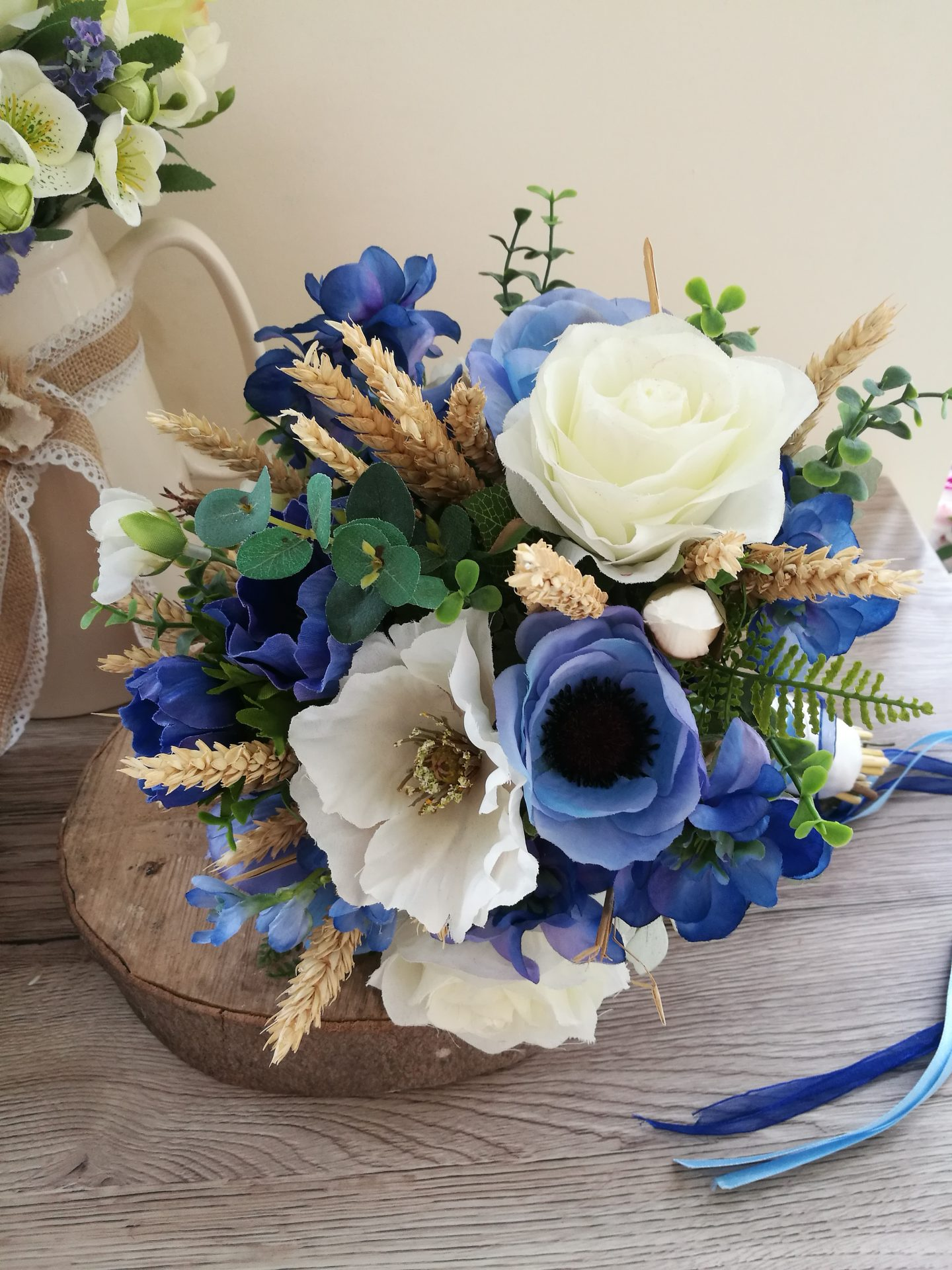 Blue Delphinium wedding bouquet