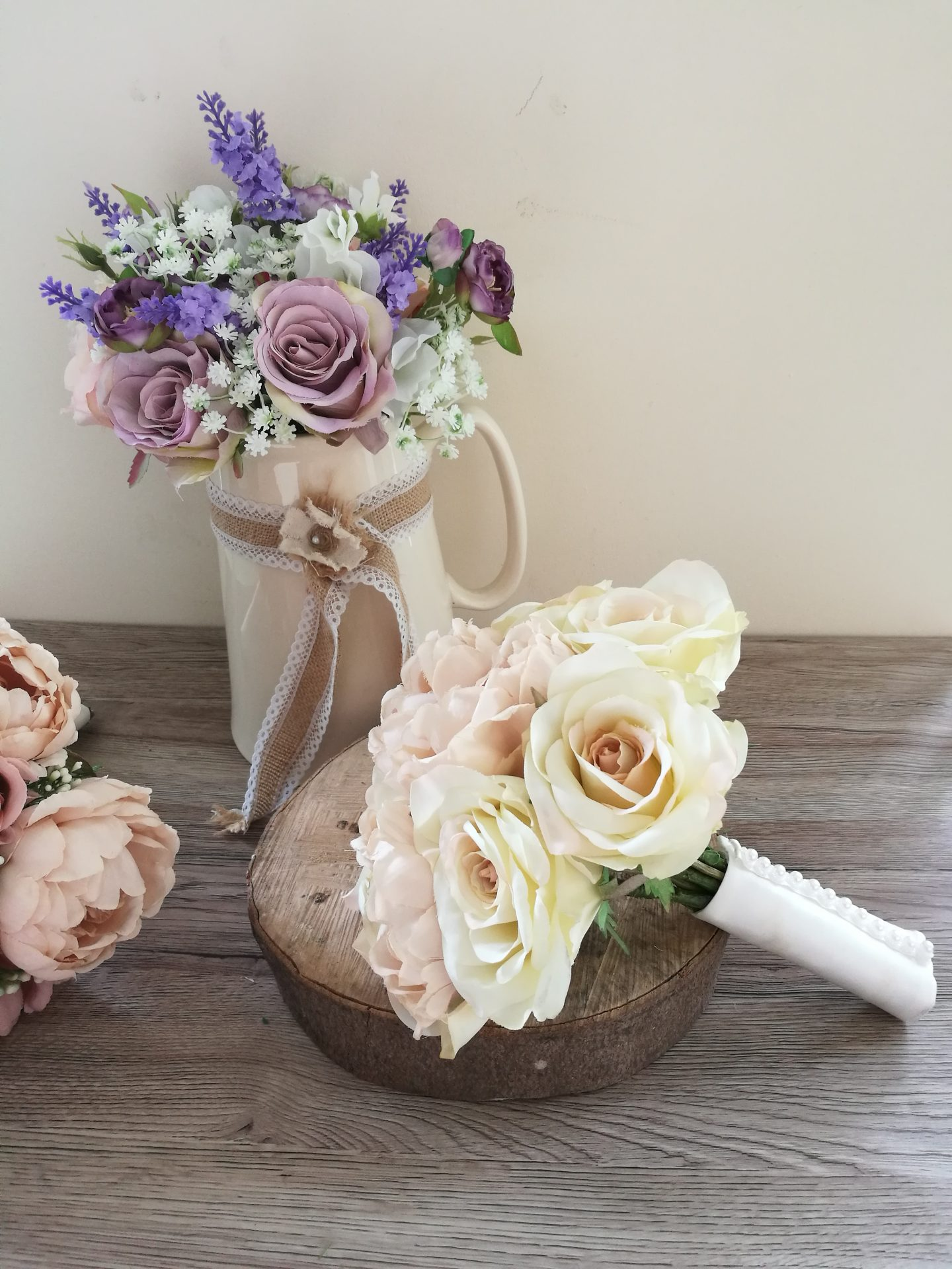 Blush Silk Wedding bouquets