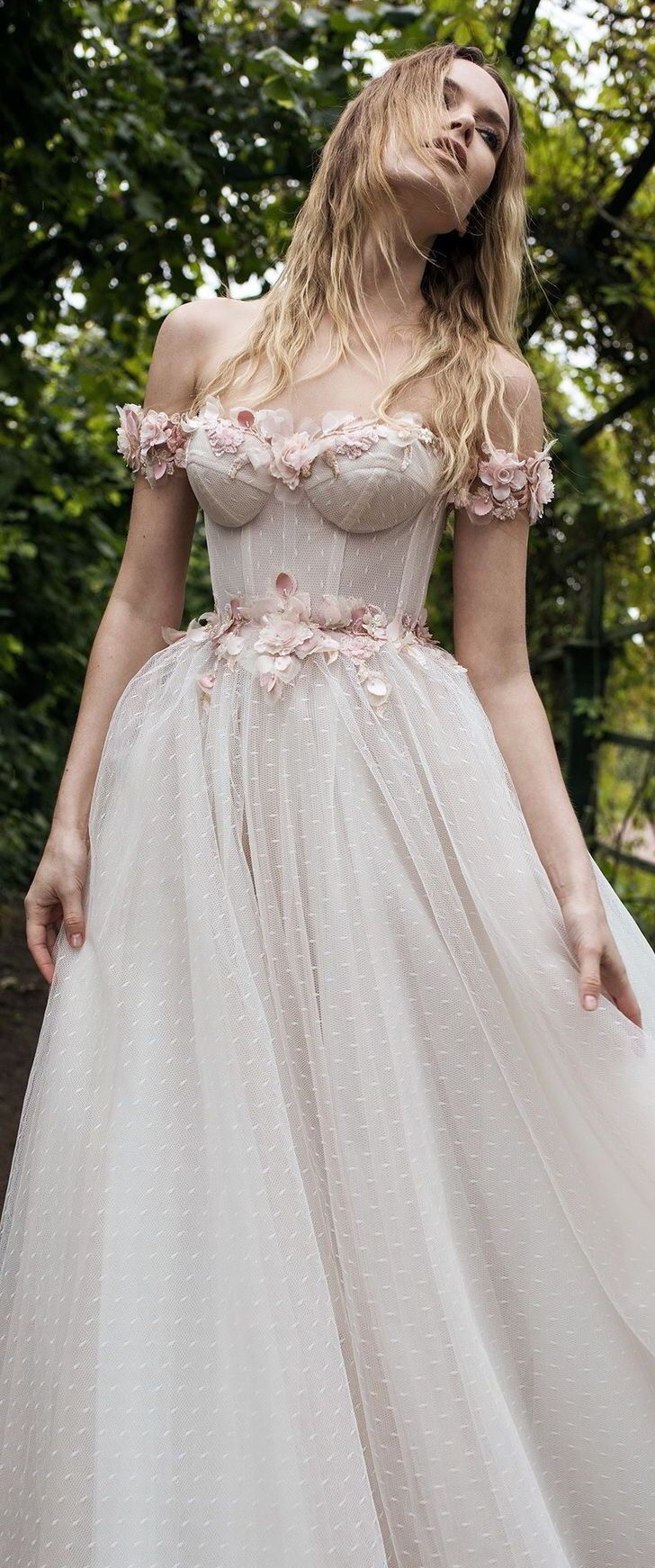 Lian Rokman off the shoulder wedding dress