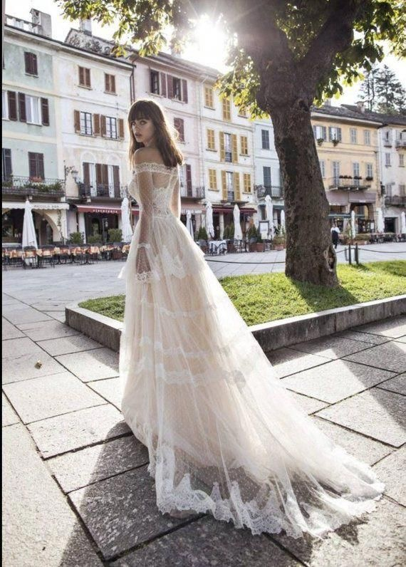 Pinella Passaro off the shoulder wedding dress