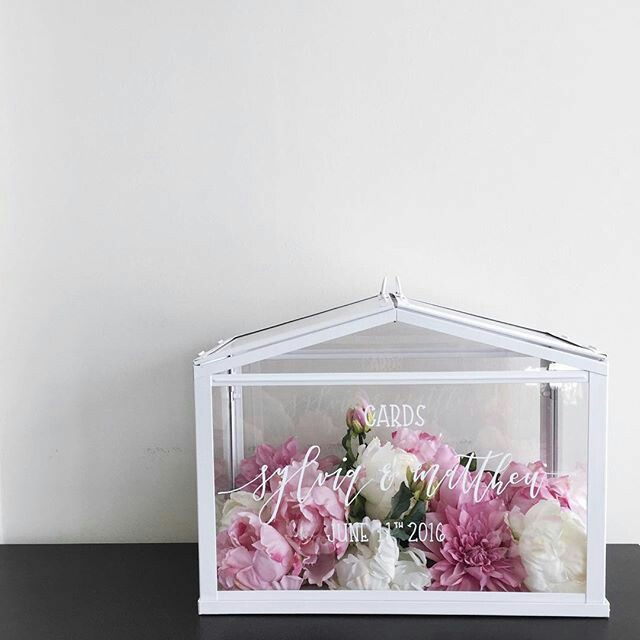 Wedding greenhouse wedding  card box