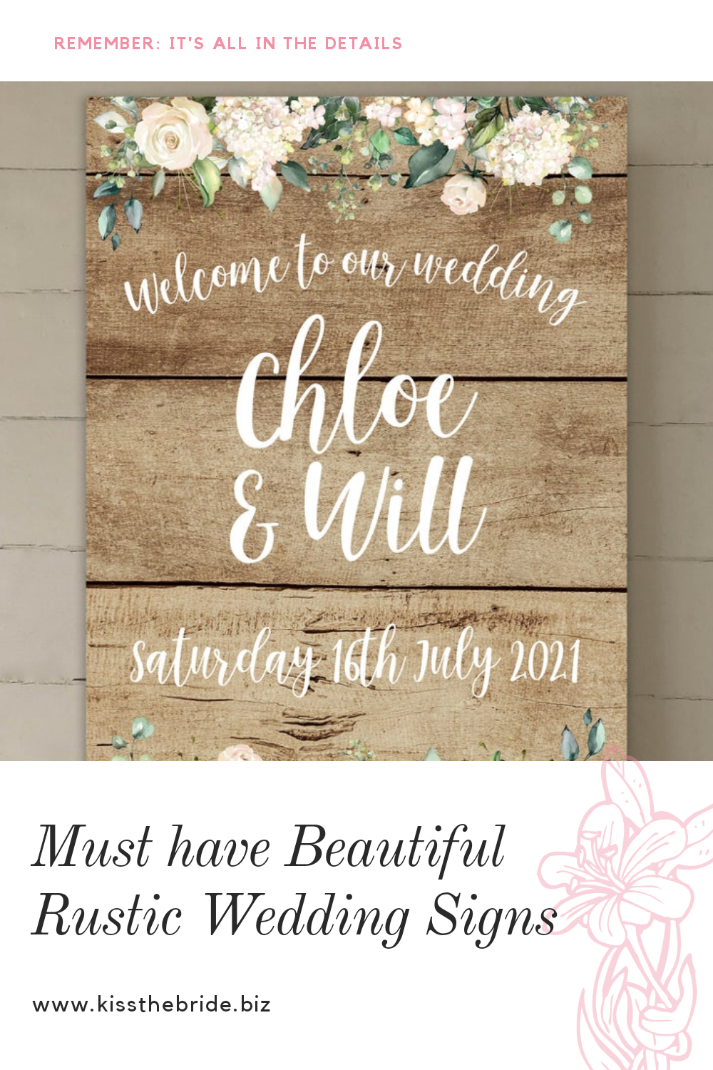 Rustic Wedding signs you must get