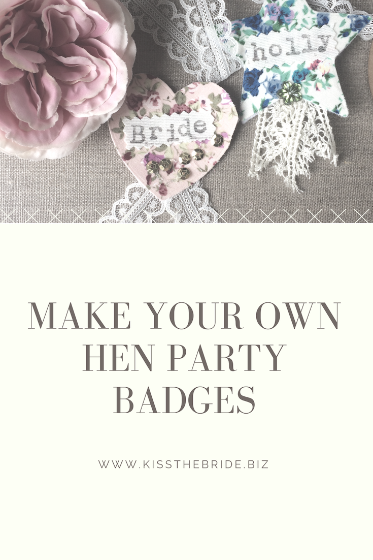 How to make hen party badges