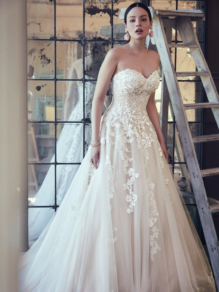 Maggie Sottero strapless wedding dress